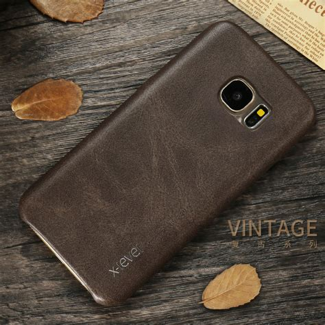 Xlevel Vintage Samsung Note 5 S7 Flat Edge Leather Back Cove T3009 aliexpress buy x level new pu leather phone for