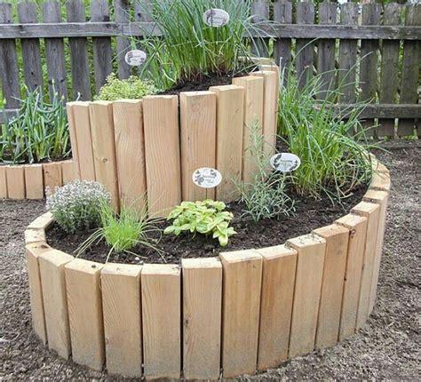 herb garden ideas pinterest spiral herb garden using 2x4 s raised garden beds