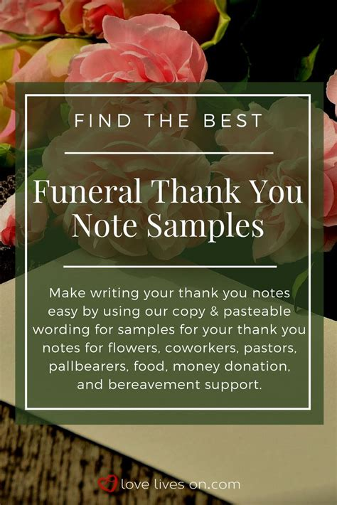 thank you notes for funeral flowers from work pictures reference