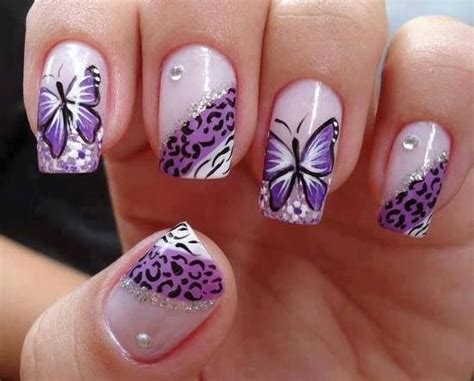 easy nail art butterfly simple nail art designs for 2017