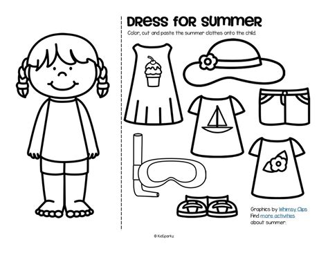 coloring cloth summer theme activities and printables for preschool pre
