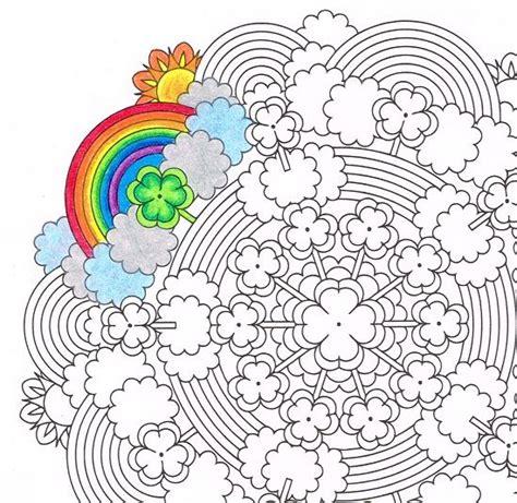 clover mandala coloring page st patricks day mandala rainbows and saints