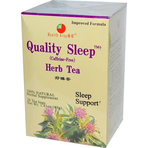 Health King Detoxer Herb Tea Reviews by Health King Quality Sleep Herb Tea Caffeine Free 20