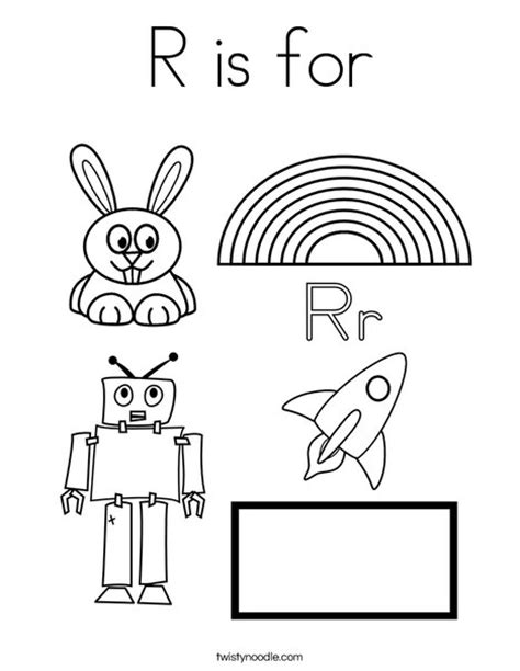 r coloring pages preschool r is for coloring page twisty noodle