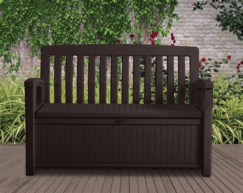 storage bench seat outdoor patio storage bench keter outdoor seat garden chair box