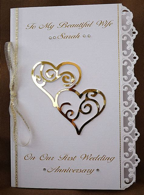 Handmade Silver Wedding Anniversary Cards For Husband - personalised handmade a5 card wedding anniversary