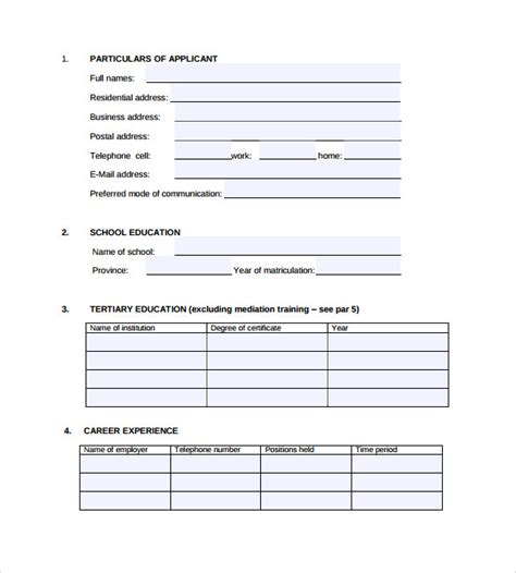 printable job application for justice sle correctional services application form 9
