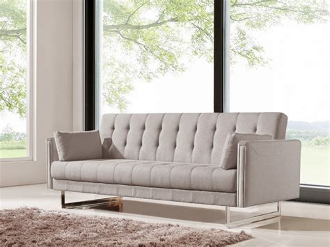 beige fabric sofa divani casa tejon modern beige fabric sofa bed