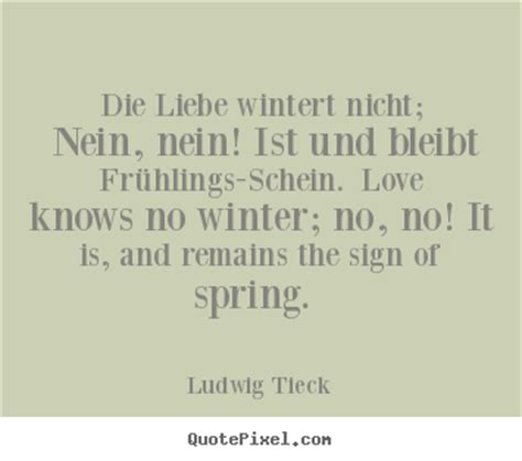 Create graphic image quote about love - Die liebe wintert ...