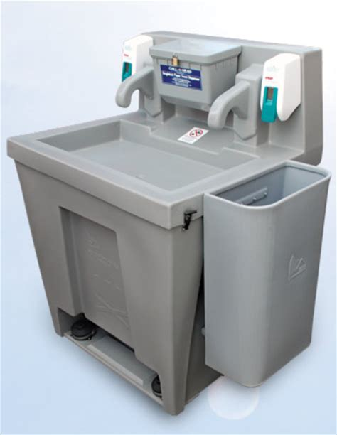 portable shoo sink with waste container to wash your hands one of these faucets must be pushed