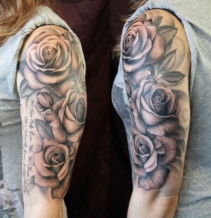 rose wrap around tattoo black and grey i may use something like this