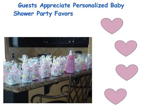 what to give guests at a baby shower guests appreciate personalized baby shower favors