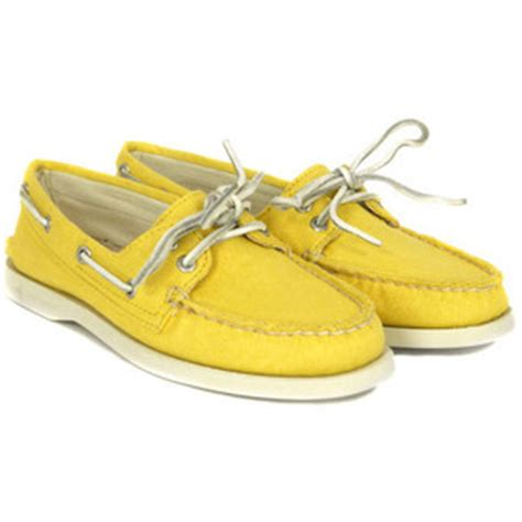 yellow sperry boat shoes sperry yellow canvas stacks magazine