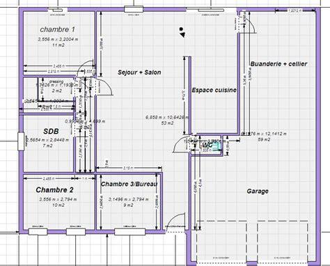 Plan Maison Plain Pied 100m2 4121 by Plan Maison Plain Pied 100m2 Votre Avis 87 Messages