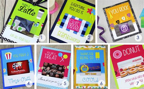 You Gift Card - free printables 7 ways to say thank you with gift cards