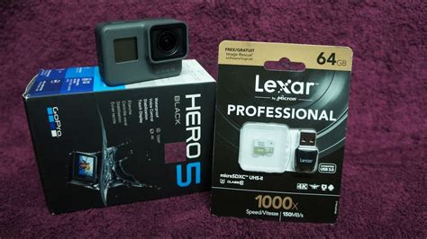 Memory Card Untuk Gopro gopro 5 unboxing recommended memory card low light test