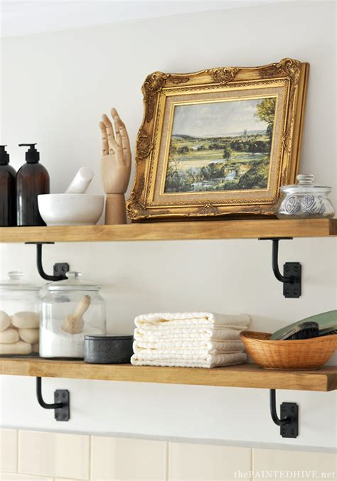 farmhouse shelves diy farmhouse wall shelves using rail brackets the