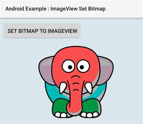 android bitmap how to set a bitmap to imageview in android