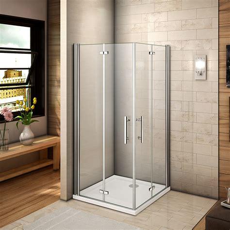 Bi Fold Shower Door 760 Aica Frameless Bi Fold Shower Door Enclosure Tray 700 760 800 900 1000mm Ebay