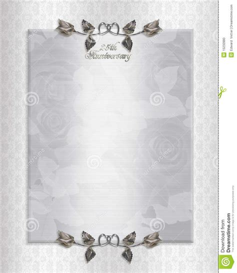 25th Anniversary Invitation Card Templates by 25th Wedding Anniversary Invitation Template