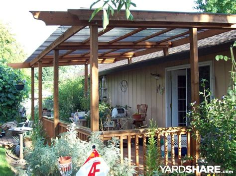 homemade deck awning landscaping ideas gt deck awning build yardshare com