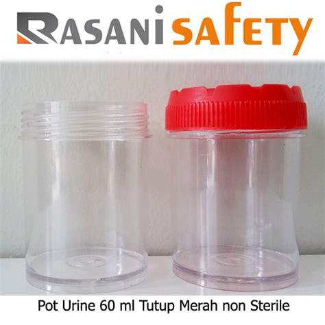 pot urine 60 ml tutup merah non sterile murah jual pot
