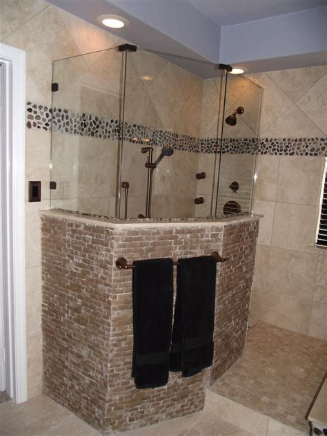 Recessed light in bathroom and stand up shower fendhome com bathroom