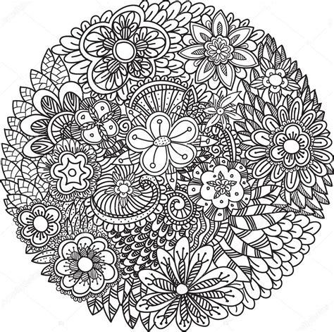 imagenes de mandalas florales mandala flores de doodle vector de stock 103926838