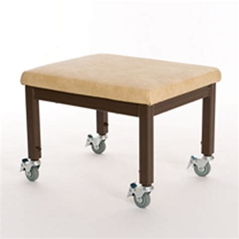 mobile therapy stool brown and beige therapy benches
