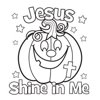 pumpkin gospel coloring pages jesus shine in me coloring picture for halloween