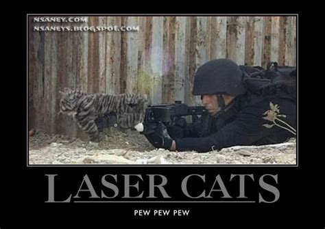 Laser Cat Meme - nsaney s motivational posters laser cats pew pew pew