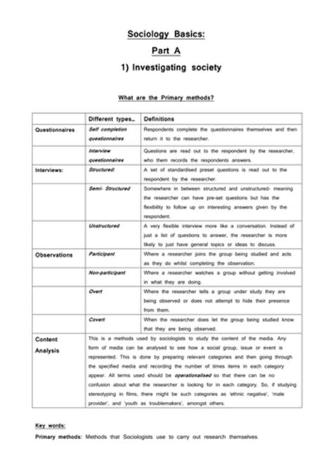 Sociology Worksheets by Boldero S Shop Teaching Resources Tes