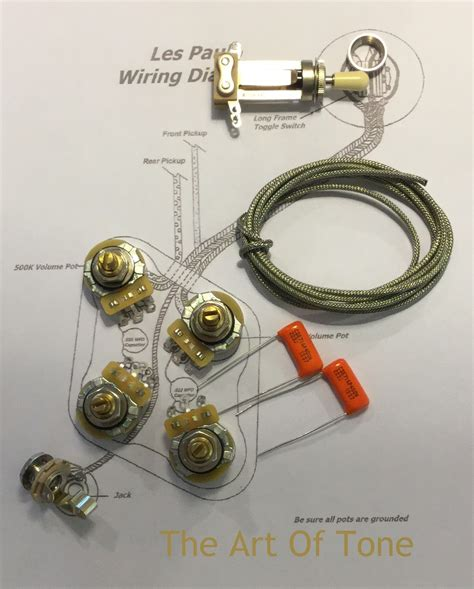 orange drop capacitors les paul deluxe shaft wiring kit for gibson usa les paul guitars