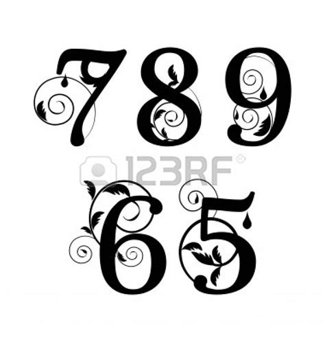 tattoo number fonts fancy fonts numbers google search parent s weekend