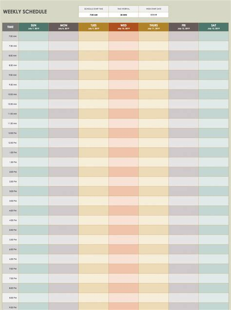 28 Free Time Management Worksheets Smartsheet Free Time Schedule Template