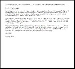 Firefighter Cover Letters by Firefighter Recommendation Letter Livecareer