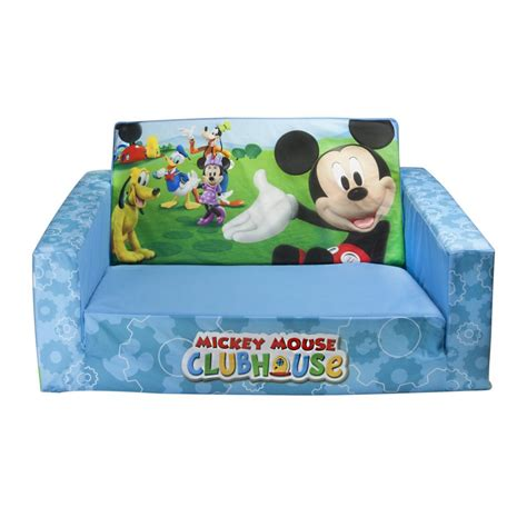 mickey mouse clubhouse flip open sofa with slumber flip open sofas for kids wonderful gifts for wonderful