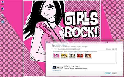 girl themes for windows 7 free download girls rock windows 7 theme download