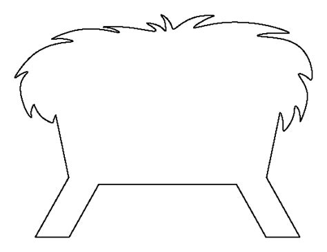 printable nativity stencils manger pattern use the printable outline for crafts