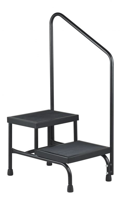 bariatric step stool with two handrails brewer two step step stool
