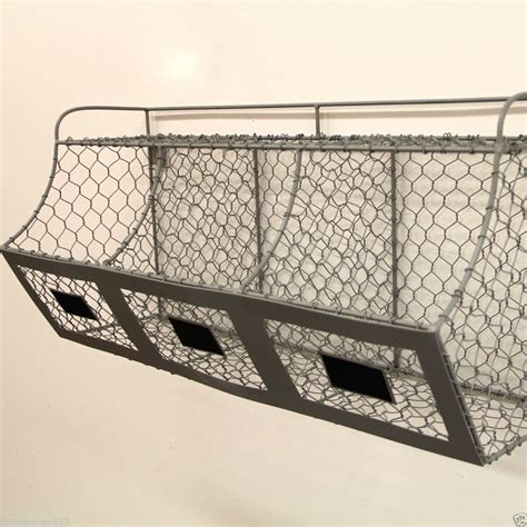 wall shelves with baskets new rustic farmhouse hanging chicken wire wall basket storage bin country decor wall shelves