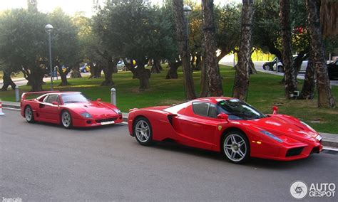 enzo f40 two icons together enzo and a f40