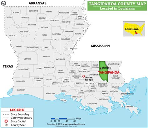 Tangipahoa Parish Map, Louisiana