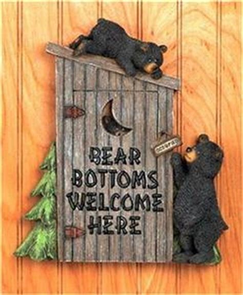 black bear outhouse wall plaque bathroom home decor accent black bear bathroom outhouse wall plaque cabin lodge pine