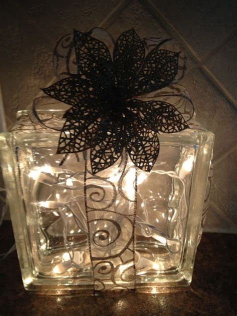glass block christmas decoration crafts pinterest