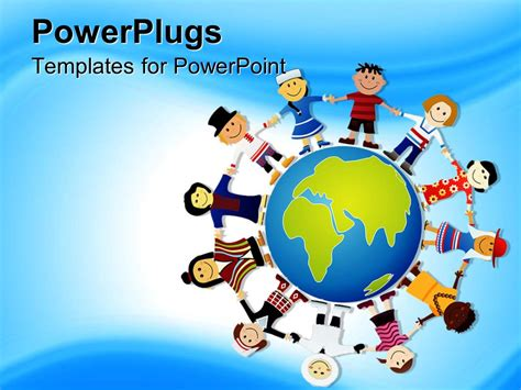 Powerpoint Template World Peace Depiction Different Races Of The World 13886 Powerpoint Template World