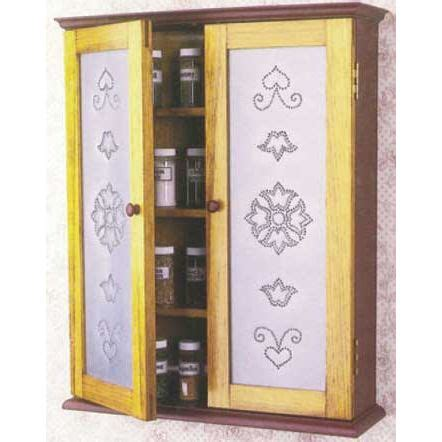 woodworkers journal pierced tin spice cabinet plan