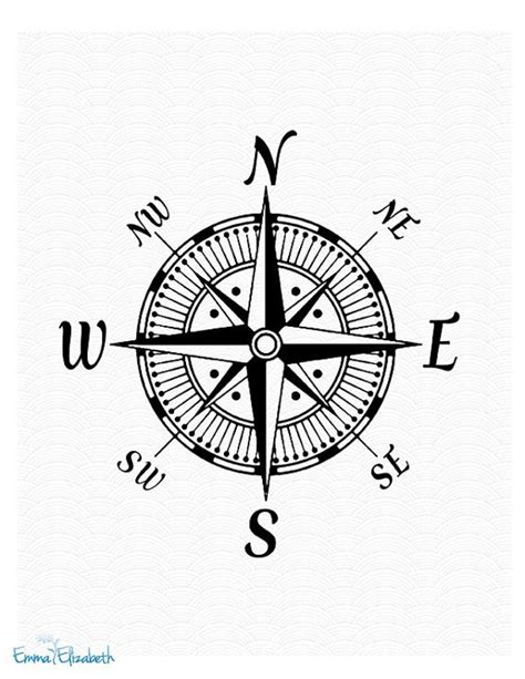 vintage compass rose tattoo nautical illustration vintage compass by