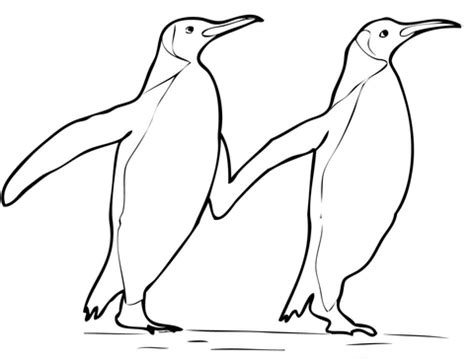 royal penguin coloring page two king penguins coloring page free printable coloring