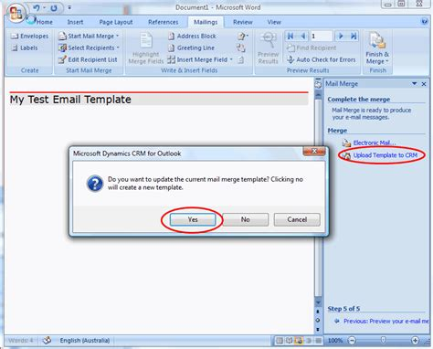 how to create and use mail merge templates in microsoft